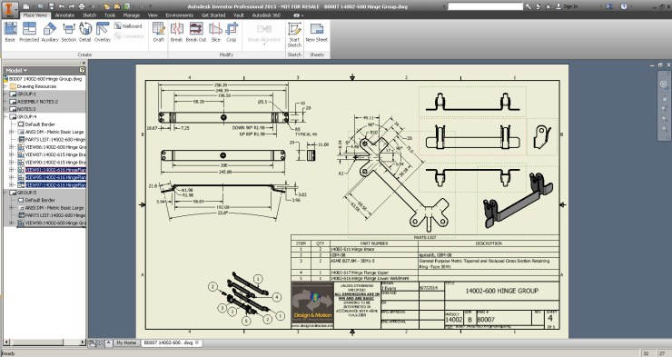 Autodesk Inventor Drag Views to copy them between sheets
