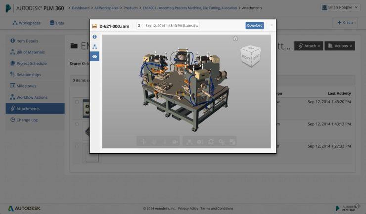 Autodesk PLM 360 enhancements at AU2014