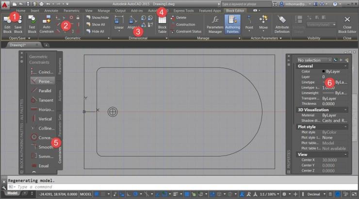 AutoCAD's Block Editor Environment