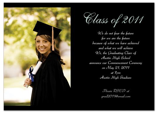 Download Examples Graduation Invitation Announcement Black Word