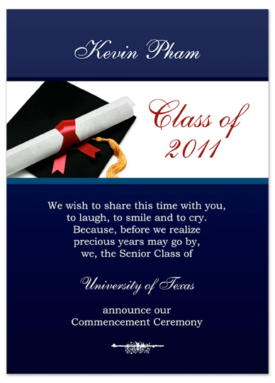 Download Examples Graduation Invitation Announcement Blue Word