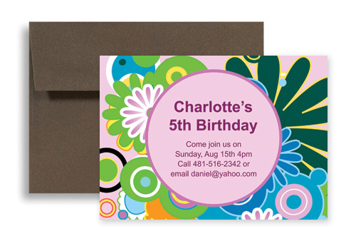 Custom Personalize Designs Birthday Invitation Samples 7x5 in - invitations samples for birthday