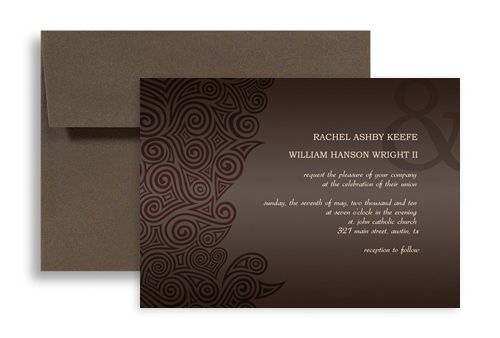 Online Software Template Blank Wedding Invitation 7x5 in Horizontal