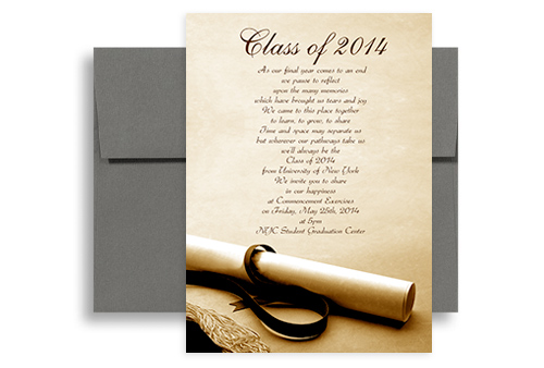 2018 Degree Photo Background Graduation Announcement Sample 5x7 in