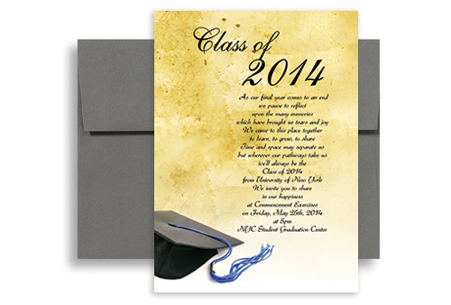 2019 Make Your Own Graduation Party Invitation 5x7 in Vertical GI