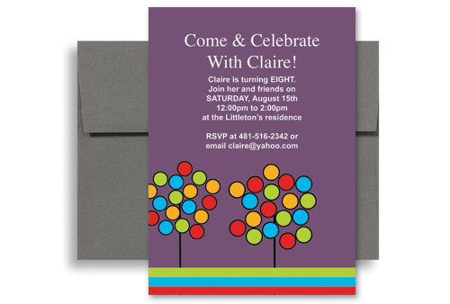 Create Your Own Microsoft Word Birthday Invitation 5x7 in - how to make a party invitation on microsoft word