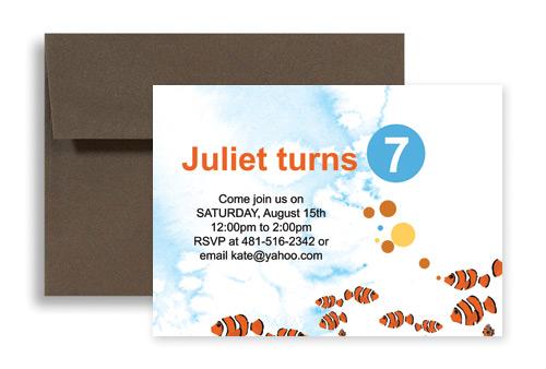 Water Park Beach Party Microsoft Word Birthday Invitation 7x5 in