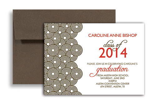 2018 Background Clipart Personalized Graduation Invitation 7x5 in