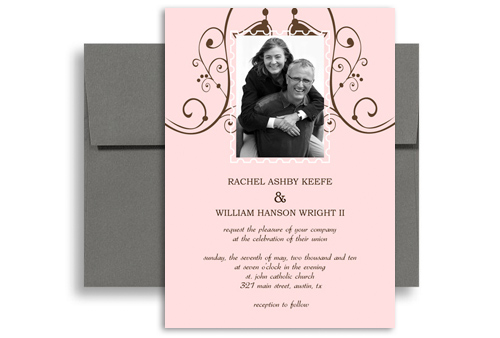 Downloadable File Template Wedding Announcement Samples 5x7 in - wedding announcement template