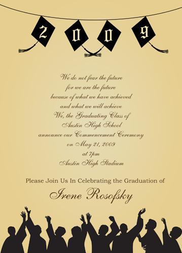 Invite Template - graduation invitation template