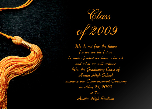 Graduation Invitation Wording In Spanish