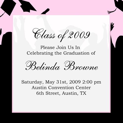 Graduation Invitations Make Your Own