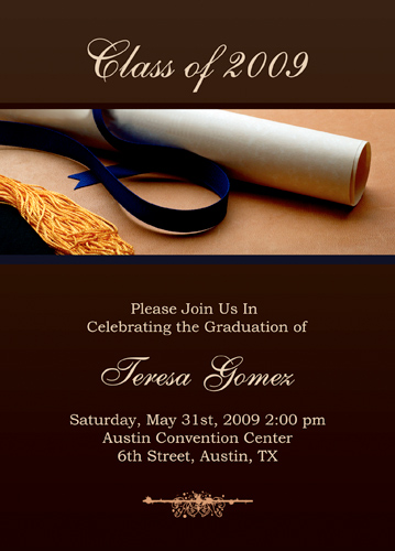 Invitation Templates Microsoft Word - graduation invitation template