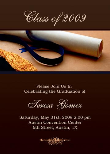 Invitation Templates Microsoft Word - graduation invitation template