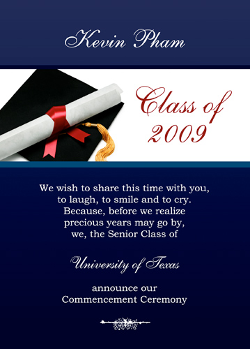 Free Printable High School Graduation Templates - free printable invitations graduation
