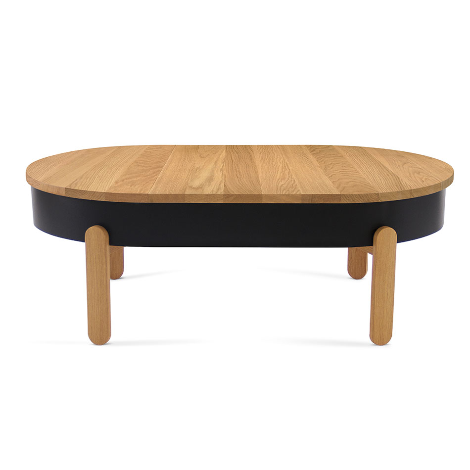 Couchtisch Oak Grey Batea Table Collection Features Complimentary Storage Space Designboom Shop