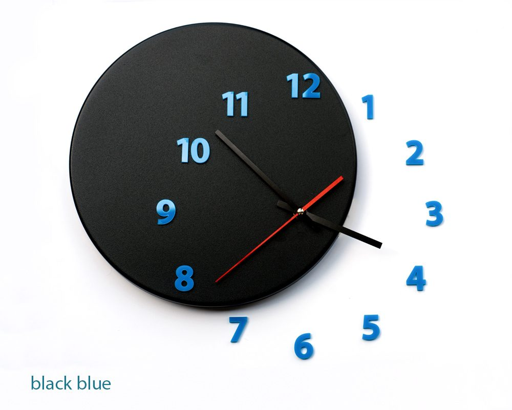 Black Wall Clock Wall Clock Out Of Time Moved Some Numbers Of Hours On The Wall Designboom Shop