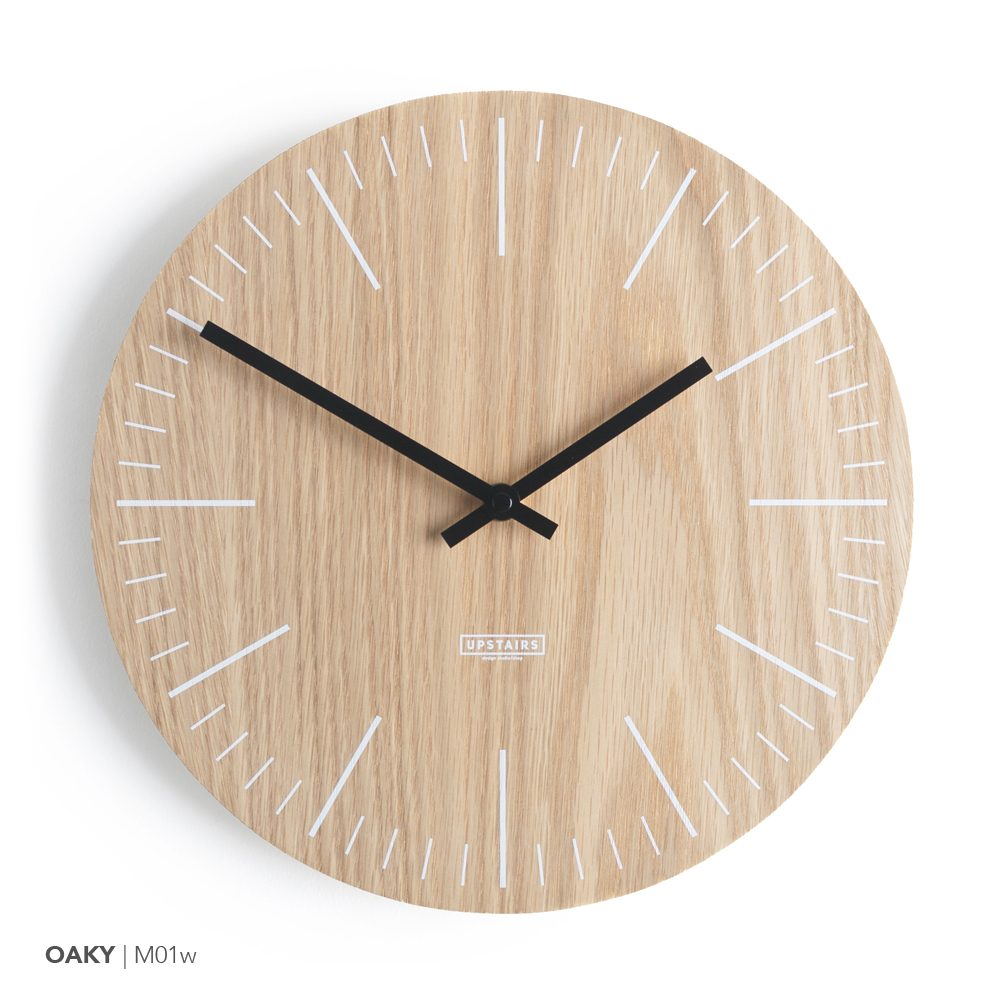 Oak Plywood Oaky Wall Clocks Made From Premium Oak Plywood Designboom Shop