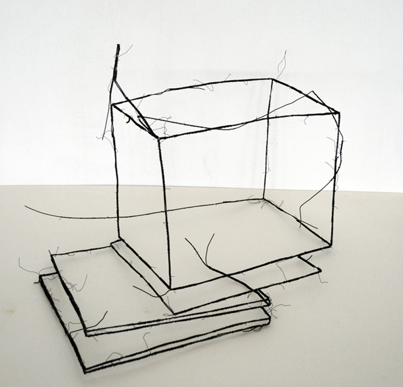 Wire Sessel 3d Wire Sculptures By Fritz Panzer
