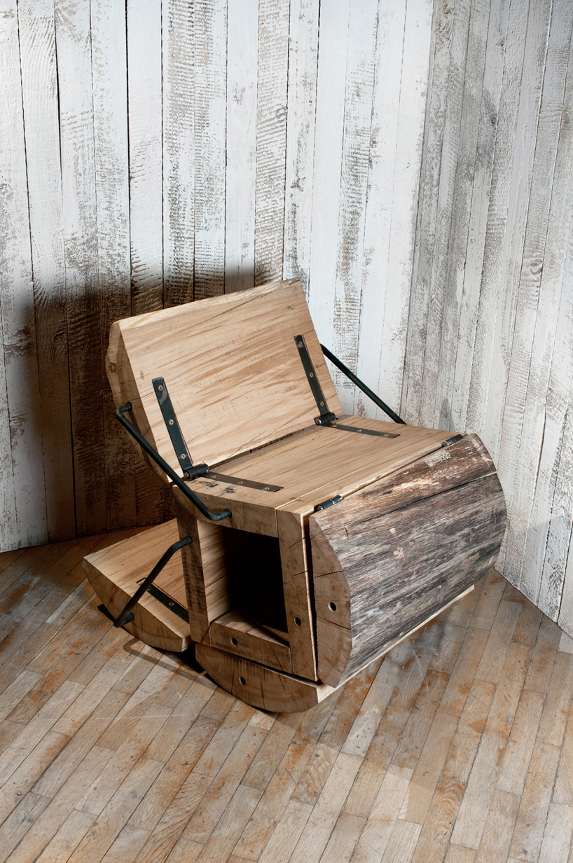 Design Stoel Waste Less Log Chair By Architecture Uncomfortable Workshop