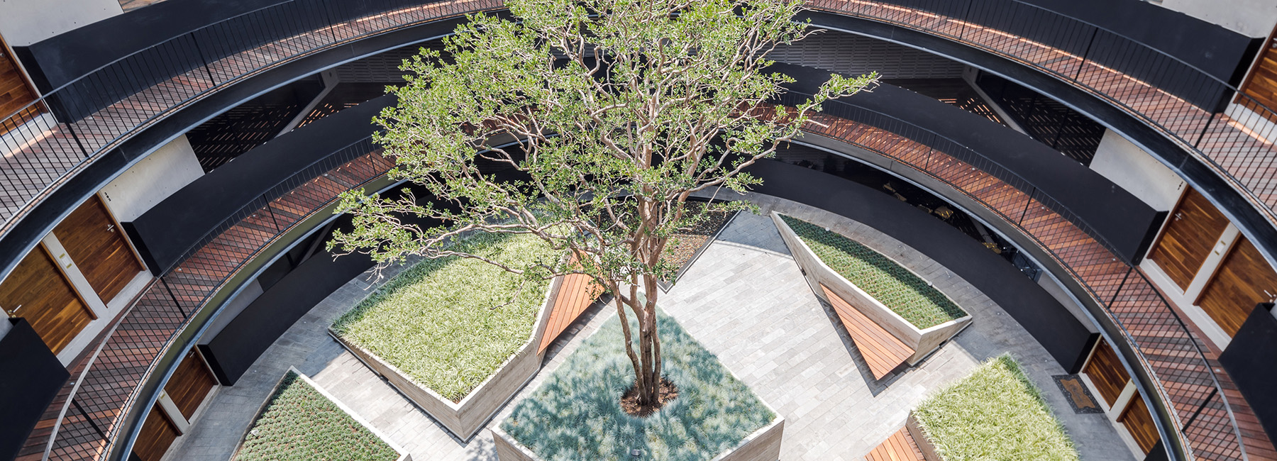 Courtyard Designs Hgr Arquitectos Designs Building With Circular Courtyard As New