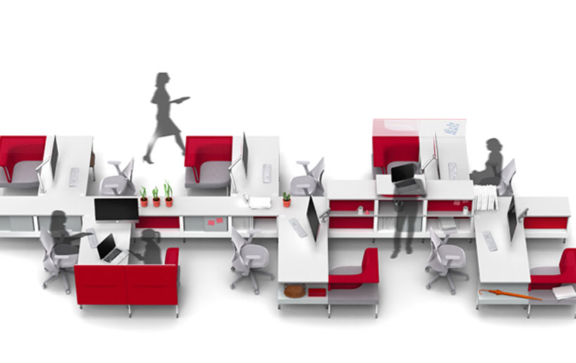 Charles And Ray Eames Chair Fuseproject: Public Office Landscape For Herman Miller