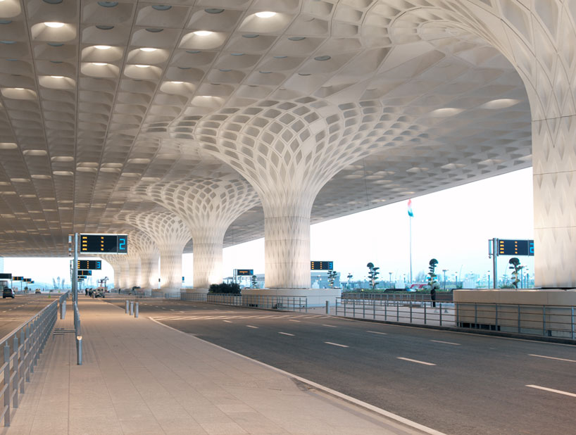 Light Eindhoven Som Unites Mumbai Airport Terminal With Fractal Roof Canopy