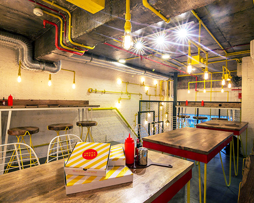 Desain Outlet Renesa Architecture Designs Pizza Restaurant In New Delhi