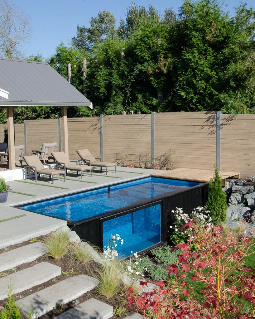Spa Exterieur Temperature Take A Dip In Modpools' Shipping Container Swimming Pool