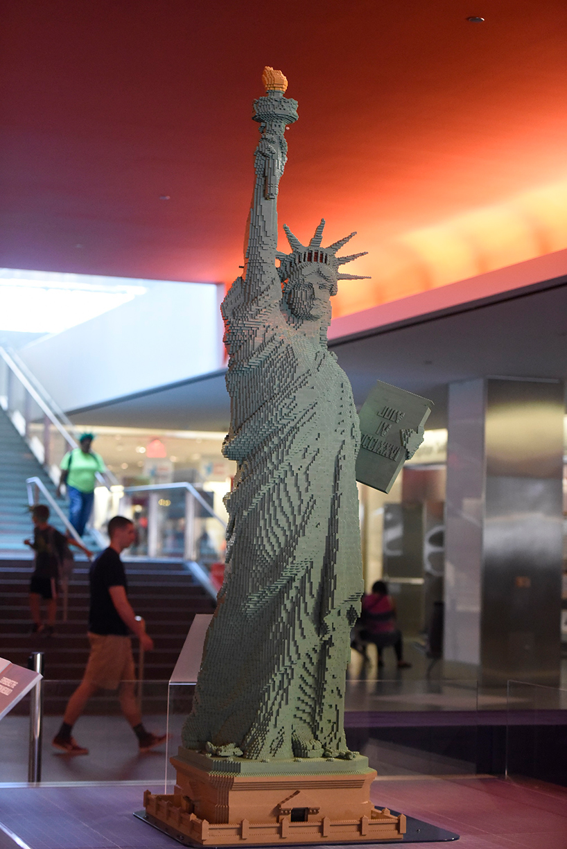 Ikea Breakfast 9 Foot Lego Statue Of Liberty Greets Visitors Into