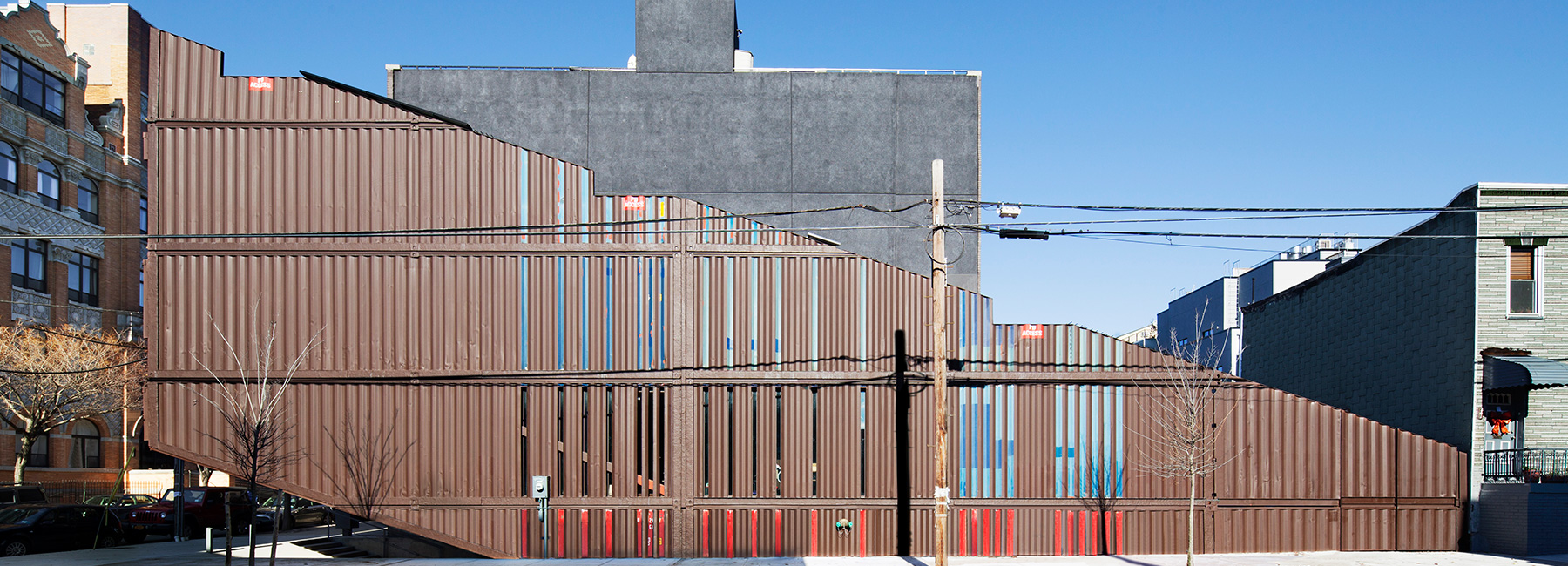 Container Haus Modern Lot Ek S Carroll House In Brooklyn Is Made From 21 Shipping Containers