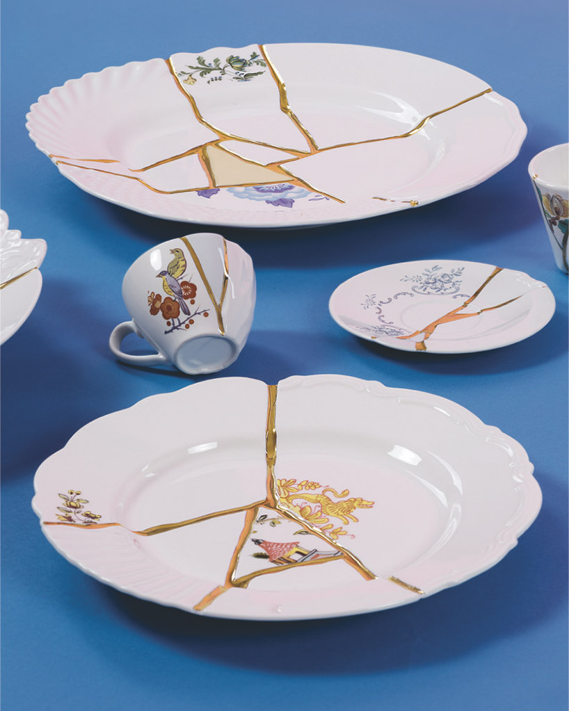 Kintsugi Marcantonio Joins Broken Porcelain With 24 Carat Gold Veins In