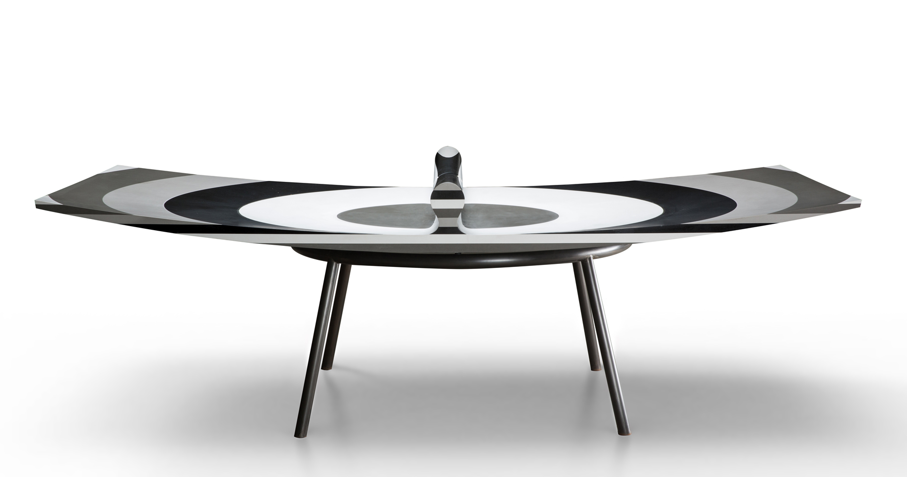 Mesa De Ping Pong Chile Concave Ping Pong Table By Ron Arad Is Designed To Make Rallies Longer