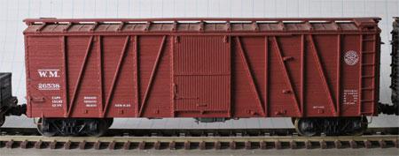 Accurail 8-panel single sheathed box car modified