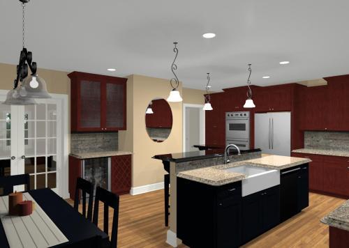 Medium Of Kitchen Design With Islands