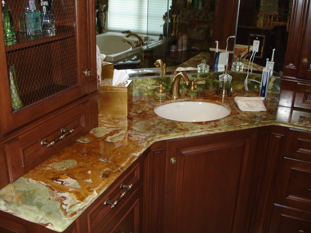 Marble Bathroom Countertops Pros And Cons Green Formica Kitchen Top Preferred Home Design