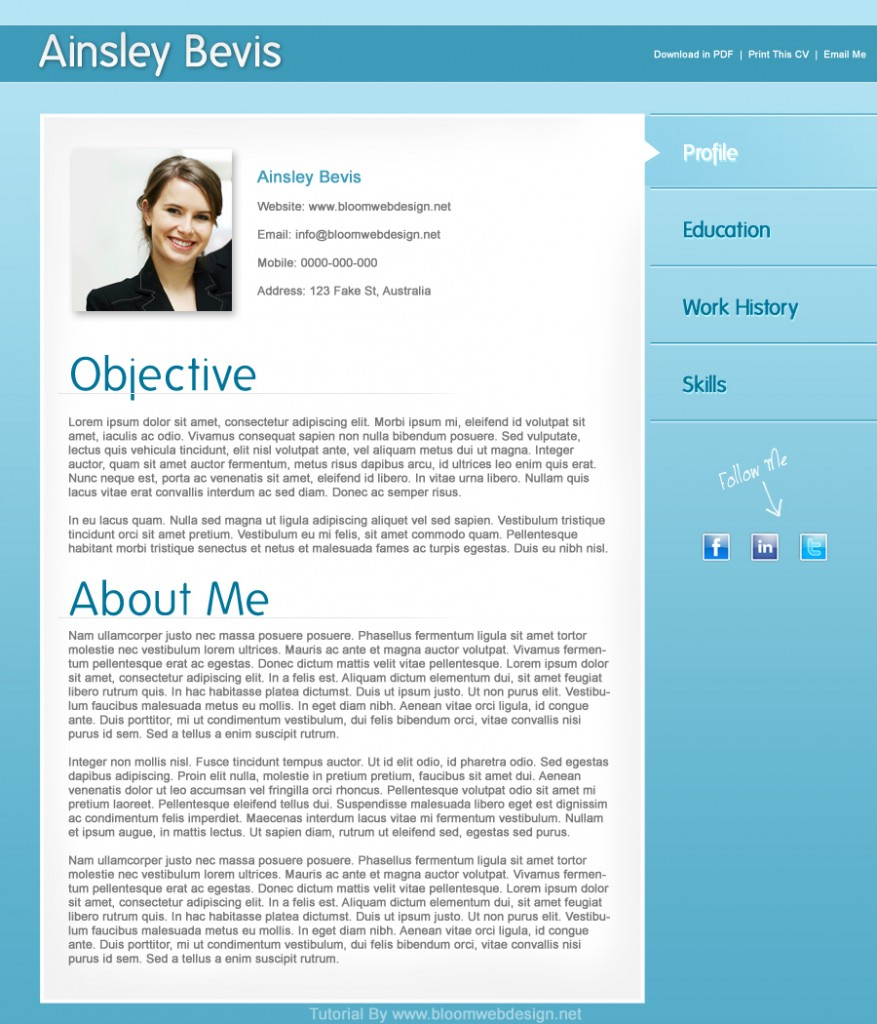 10 Best Free Resume Cv Templates In Ai Indesign Psd 9 Helpful Resume Design Tutorials To Learn Designbump