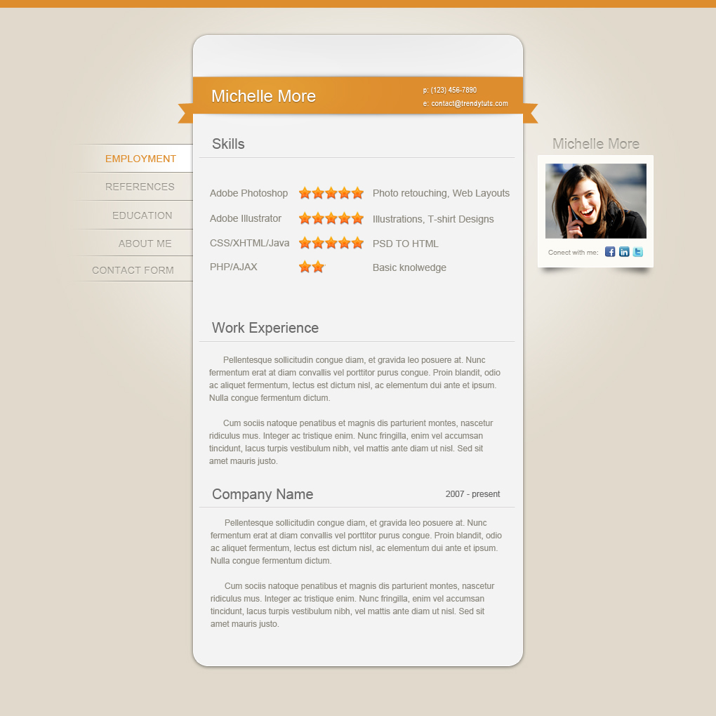 resume website tutorial