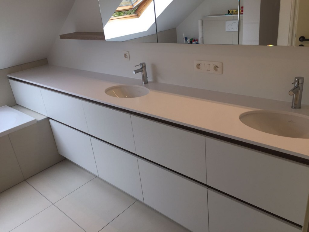 Badkamerkast Onder Wastafel : Kast onder bestaande wastafel allibert badkamermeubelset closy