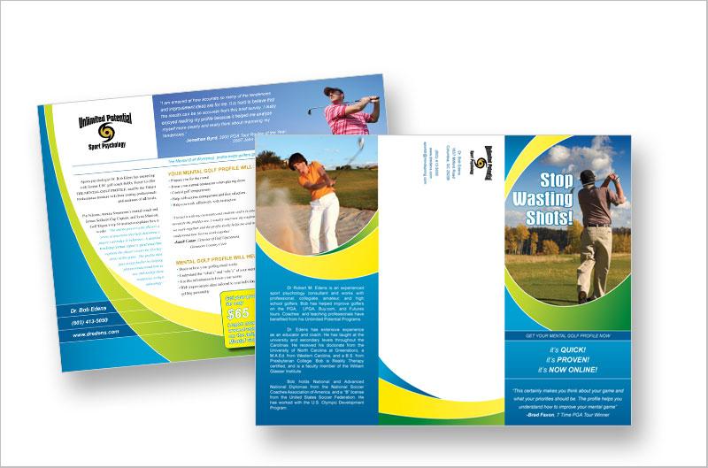 23 Colorful Brochure Designs for Inspiration - DesignCanyon - sports brochure