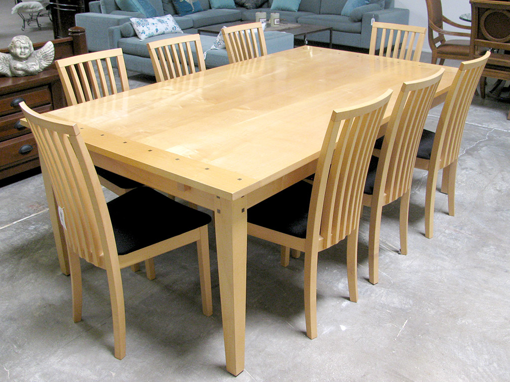 Modern Dining Set Skovby Danish Modern Solid Maple Dining Set
