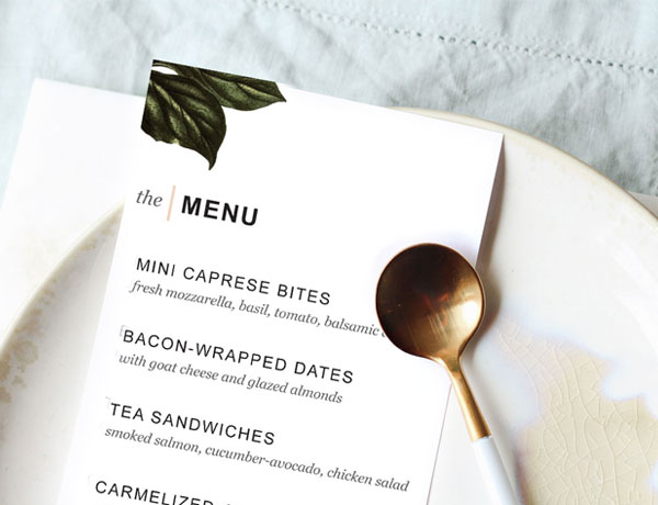 Printable Dinner Party Menu Template - Design Create Cultivate