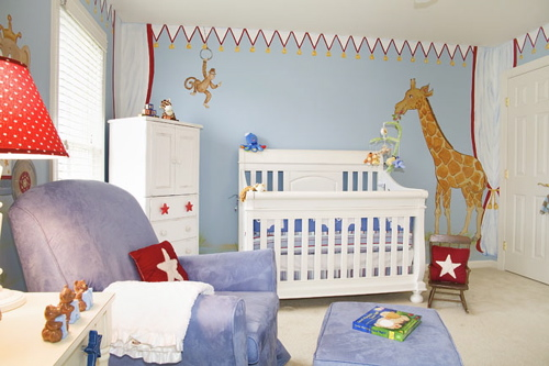 Boy And Girl In Room Circus Nursery - Design Dazzle