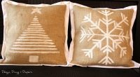 DIY Holiday Burlap Pillows - Taryn Whiteaker