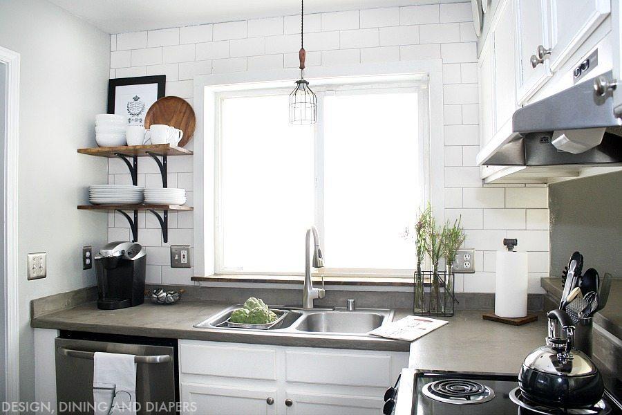 white kitchen makeover modern farmhouse design great stylish table eat small kitchen ideas decoholic