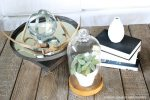 Farmhouse Industrial Coffee Table Decor