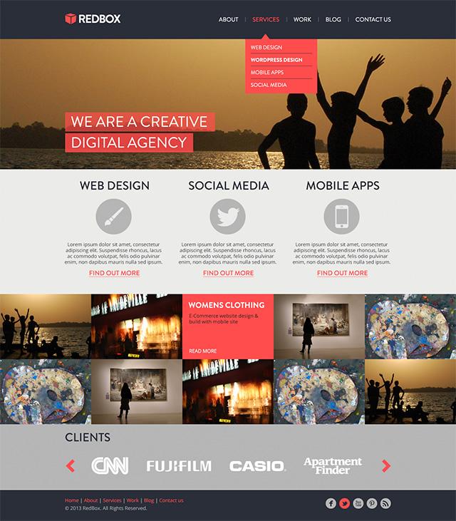 Create a RedBox Website Template Tutorial  PSD DesignDisease - how to create a website template