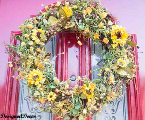Fall Silk Door Wreath