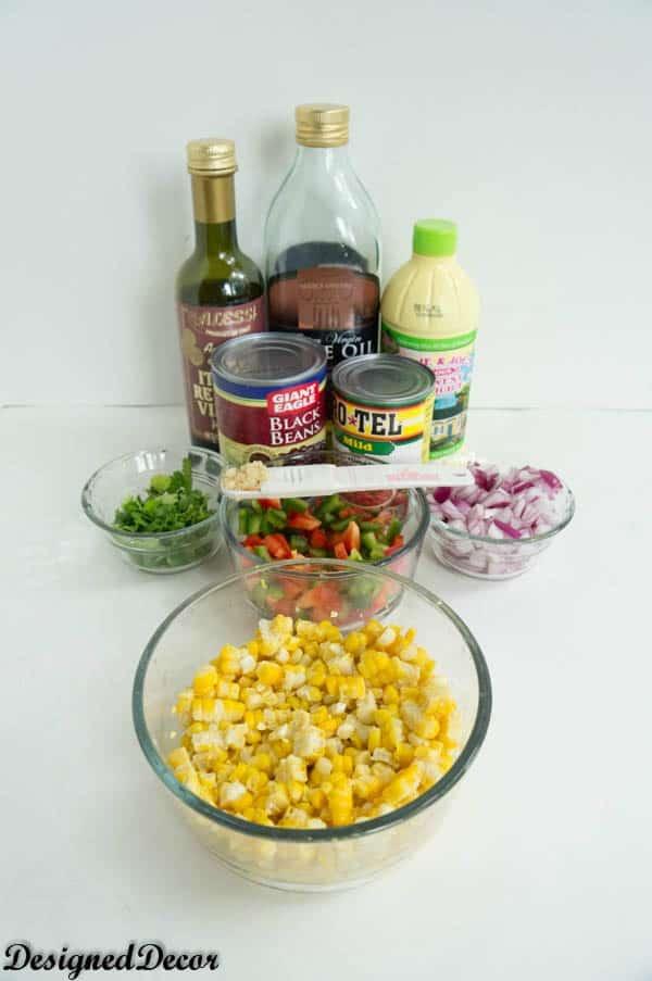 Black Bean Corn Salsa Ingredients