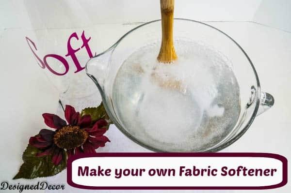 How to make fabric softener designed decor - How to make your own fabric softener ...